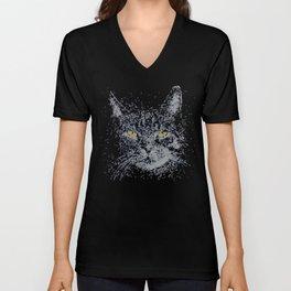 Fiber Optic Cat Unisex V-Neck