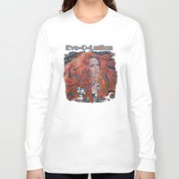 copper Long Sleeve T-shirts featuring Copper Fire by Patrick soper