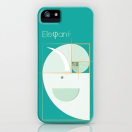 Fibonacci elephant iPhone Case