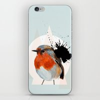 robin iPhone & iPod Skins featuring Robin by Stroke a Bird