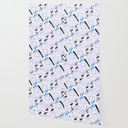 Watercolor Pattern Play in Amethyst Wallpaper