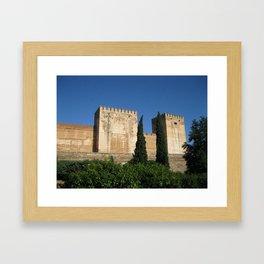 A Castle in Spain Framed Art Print