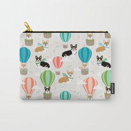 Corgi hot air balloon ride cute gifts for corgi lovers welsh corgi red and tricolored Carry-All Pouch