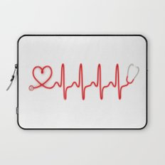 Ekg Heart Stethoscope Laptop Sleeve