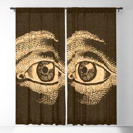 Grunge Vintage Eye Pattern Industrial Blackout Curtain