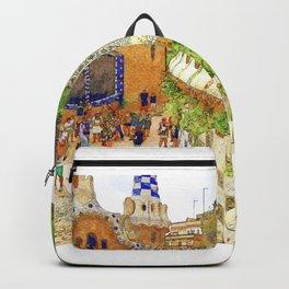 Park Guell, Barcelona, Spain Backpack