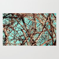 tangled Area & Throw Rugs featuring Tangled by Slava Bowman