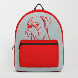 Boxer (Gray and Red) Backpack
