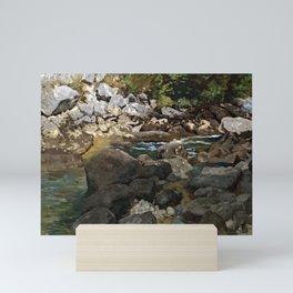 Carl Schuch Mountain Stream with Boulders Mini Art Print