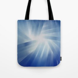 Blue Streaks of Light Tote Bag