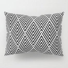 Black and White lines Lozenge pattern Pillow Sham