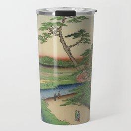 Spring Trees on Aqueduct Ukiyo-e Japanese Art Travel Mug