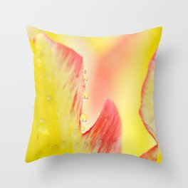 Yellow and red flower detail Throw Pillow