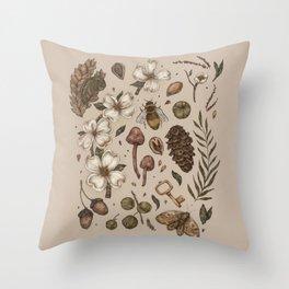 Nature Walks (Light Background) Throw Pillow