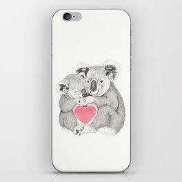 Koalas love hugs iPhone Skin