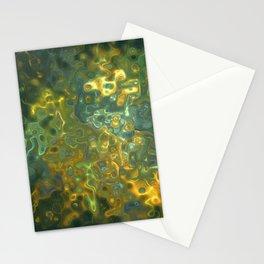 Green Yellow Gemstone Pattern Stationery Cards