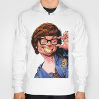 snl Hoodies featuring Austin Power, Mike Myers, color by Patrick Dea