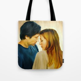 I Want to Believe painting Tote Bag