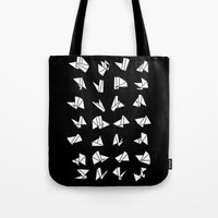 origami Tote Bags featuring origami by spinL