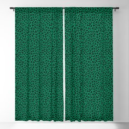 LEOPARD PRINT in GREEN | Collection : Leopard spots – Punk Rock Animal Print Blackout Curtain