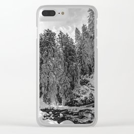 Oregon Adventures Black and White - Nature Photography Clear iPhone Case