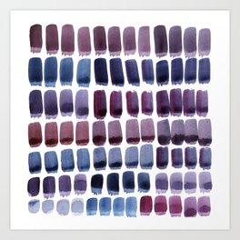 Brushstroke Colour Mixing 1 Art Print