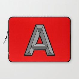Silver A Laptop Sleeve