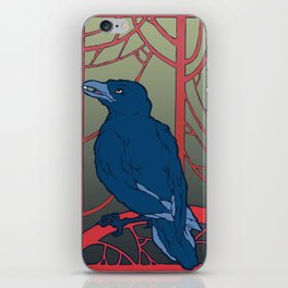 Crow habits. iPhone Skin