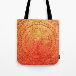 Aztec Flower Mandala Tote Bag