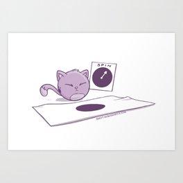 Fat Cat Twister Art Print