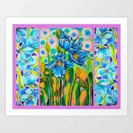 Blue Poppies 2 Art Print