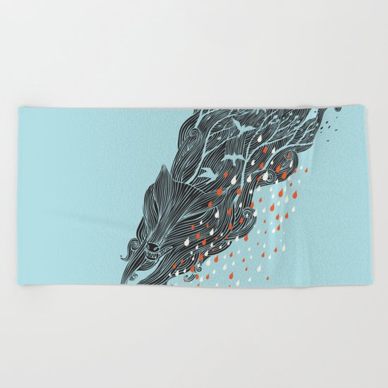 The Perfect Storm Beach Towel