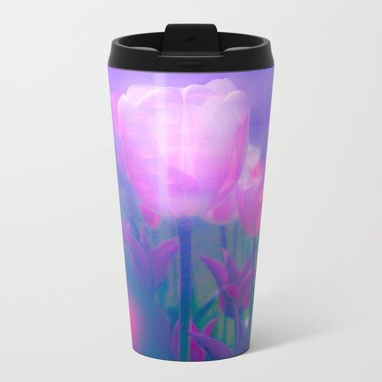 Glowing Tulips Metal Travel Mug