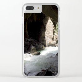 The Way Out of Box Canyon Falls Clear iPhone Case