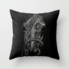 The Pale Horse Throw Pillow