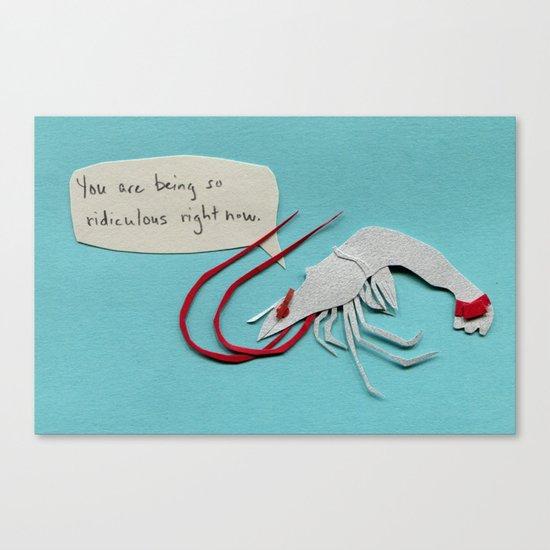 Disapproving Shrimp Canvas Print