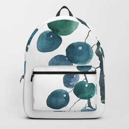 Chinese money plant watercolor Backpack