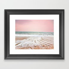 Pink as the ocean Framed Art Print