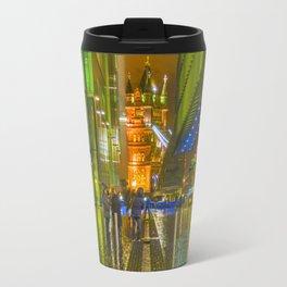 Rain And Tower Bridge London Travel Mug