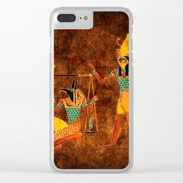 Ancient Egyptian Gods Clear iPhone Case