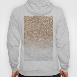 Sparkle - Gold Glitter and Marble Hoody