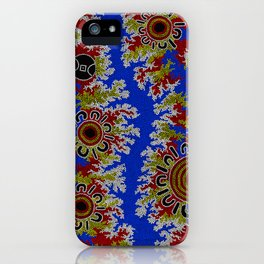 Authentic Aboriginal Art - Waterholes Corela iPhone Case