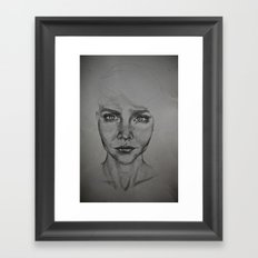 Trying to see myself Framed Art Print