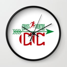 Cross country Wall Clock