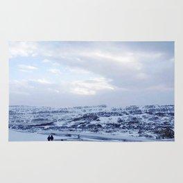 Walking down Iceland Rug