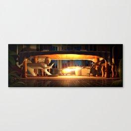 A losing battle Canvas Print