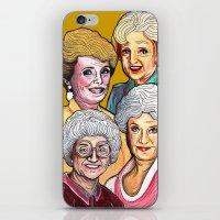 golden girls iPhone & iPod Skins featuring Golden Girls by Minerva Torres-Guzman