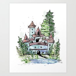 Mouse's Castle Art Print