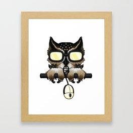 Gaming Owl Framed Art Print