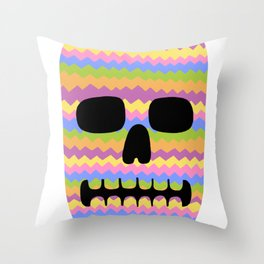 Zig-Zag Skull Throw Pillow